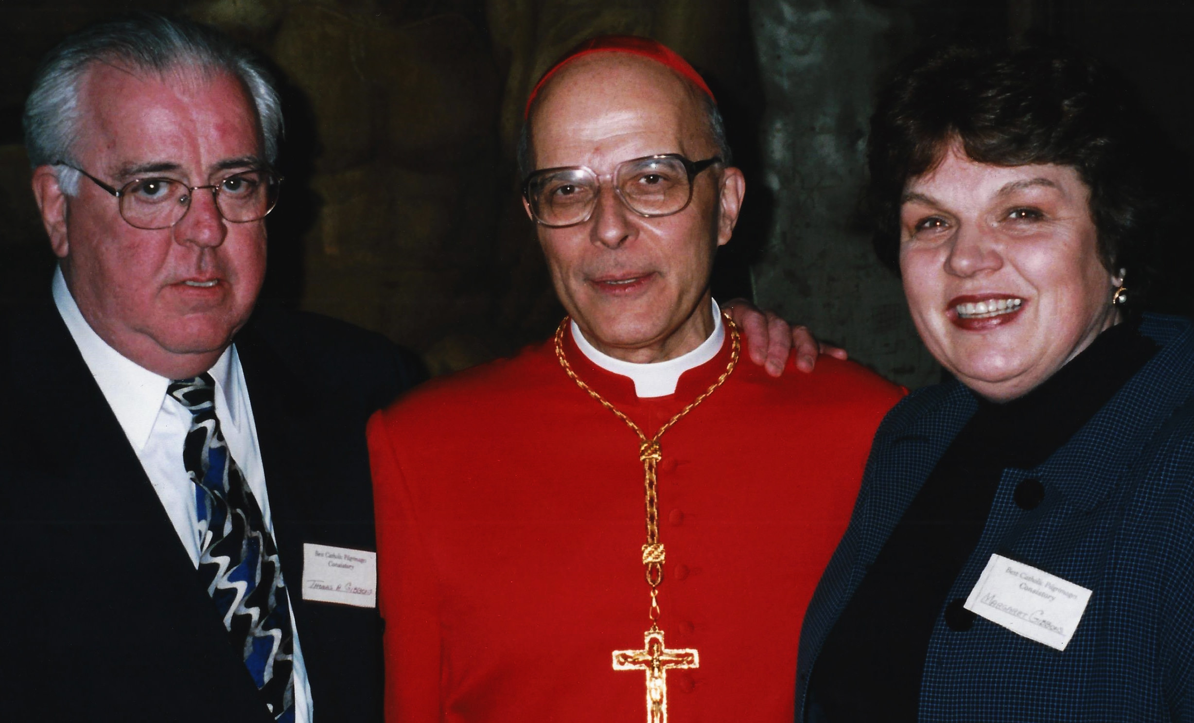 Cardinal Francis George with Tom & Rita Gibbons
